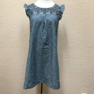 Old Navy Chambray Embroidered Dress Size Large